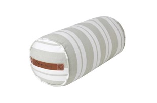 Nordic striped cotton bolster i farven Moss fra Cozy Living